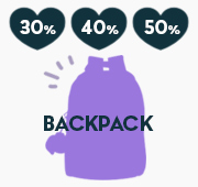 배너 BACKPACK SALE♡